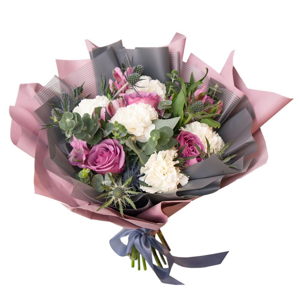 Доставкой, собрать букеты из цветов